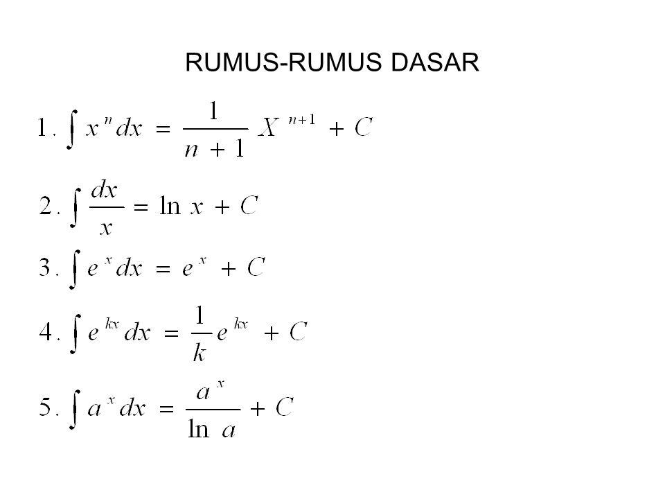 RUMUS-RUMUS DASAR