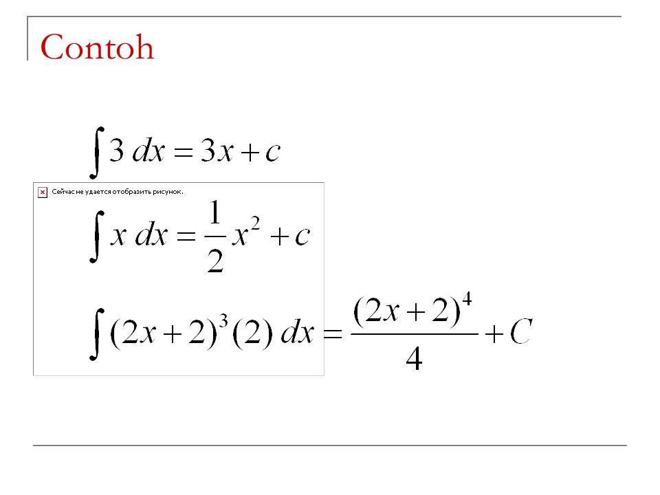 Integral Tertentu ( Definite Integral ) Notasi f(x)dx dibaca integral f(x) untuk rentangan wilayah x dari a ke b.