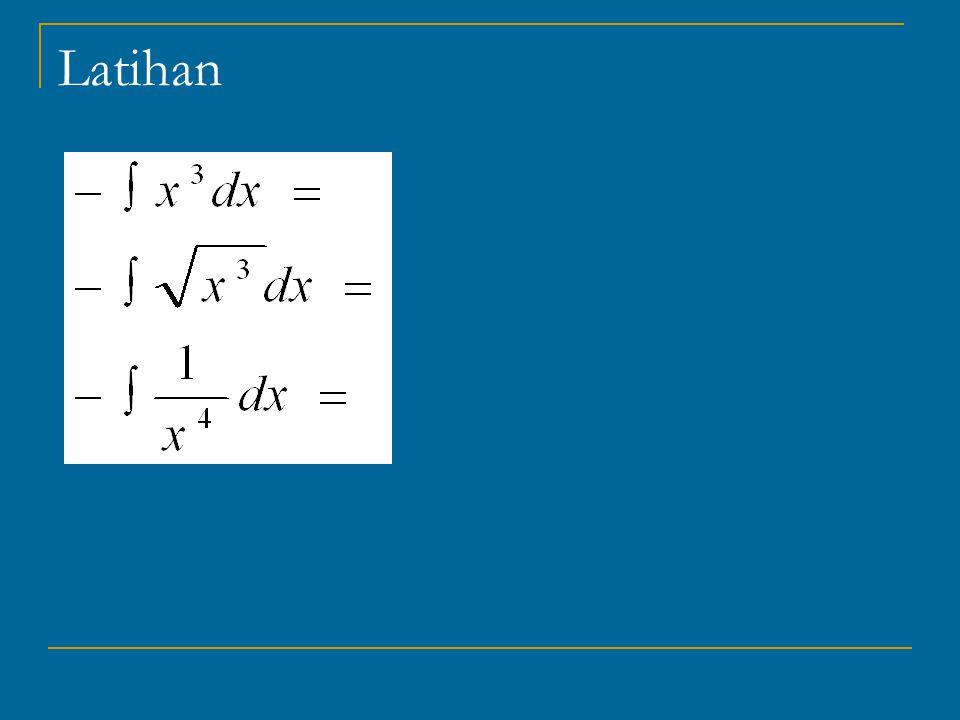 Teorema Kalkulus Fundamental (Fundamental Theorem of Calculus) Jika suatu fungsi f(x) adalah kontinu dalam suatu interval, maka fungsi tersebut mempunyai integral (antiderivatif) dalam intervalnya dan lebih lanjut jika F(x) adalah integral dari f(x) maka untuk 2 titik a dan b dalam interval kita dapatkan :