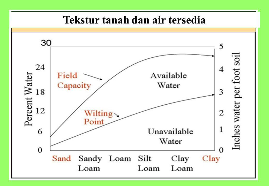 27 Tekstur tanah dan air tersedia