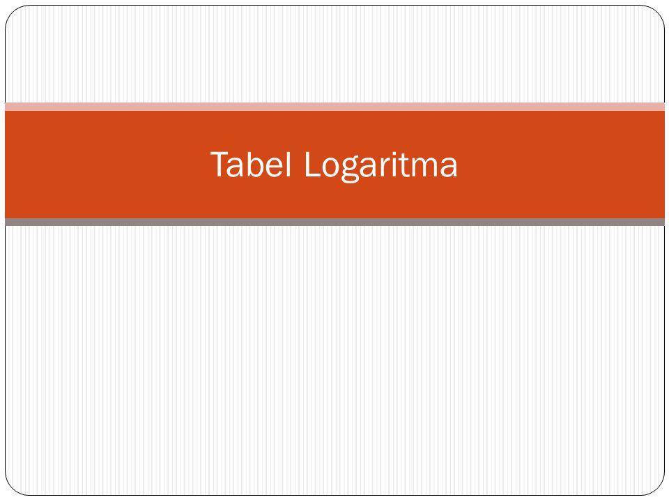 Masih ingat sifat Logaritma ??