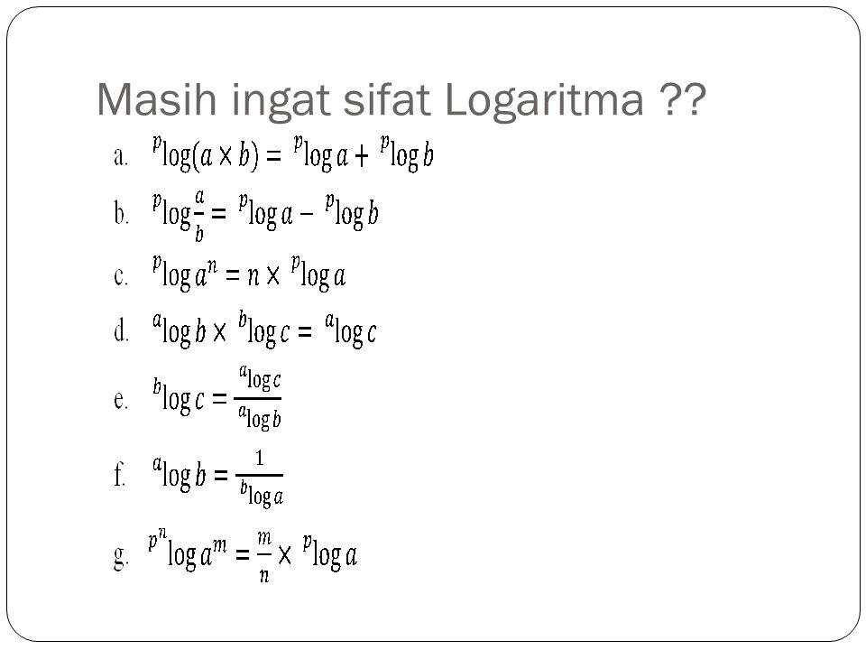 Tabel Logaritma Mantisa/Mantise Bagian desimal/bilangan dibelakang koma Karakteristik Bagian bulat/bilangan di depan koma Cara menentukan karakteristik : a.