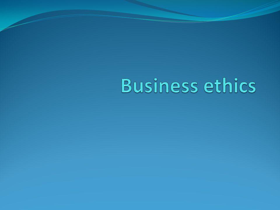 Etika bisnis mencakup eksplorasi dari: Nilai-nilai bisnis, termasuk yang dari setiap profesi tertentu dalam bisnis, seperti akuntan atau manajer.
