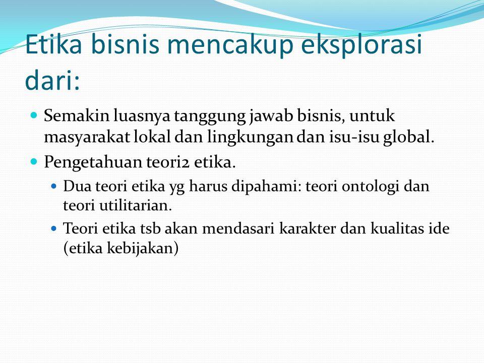 Pentingnya etika bisnis Globalisasi.Teknologi Informasi dan Komunikasi (ICT).