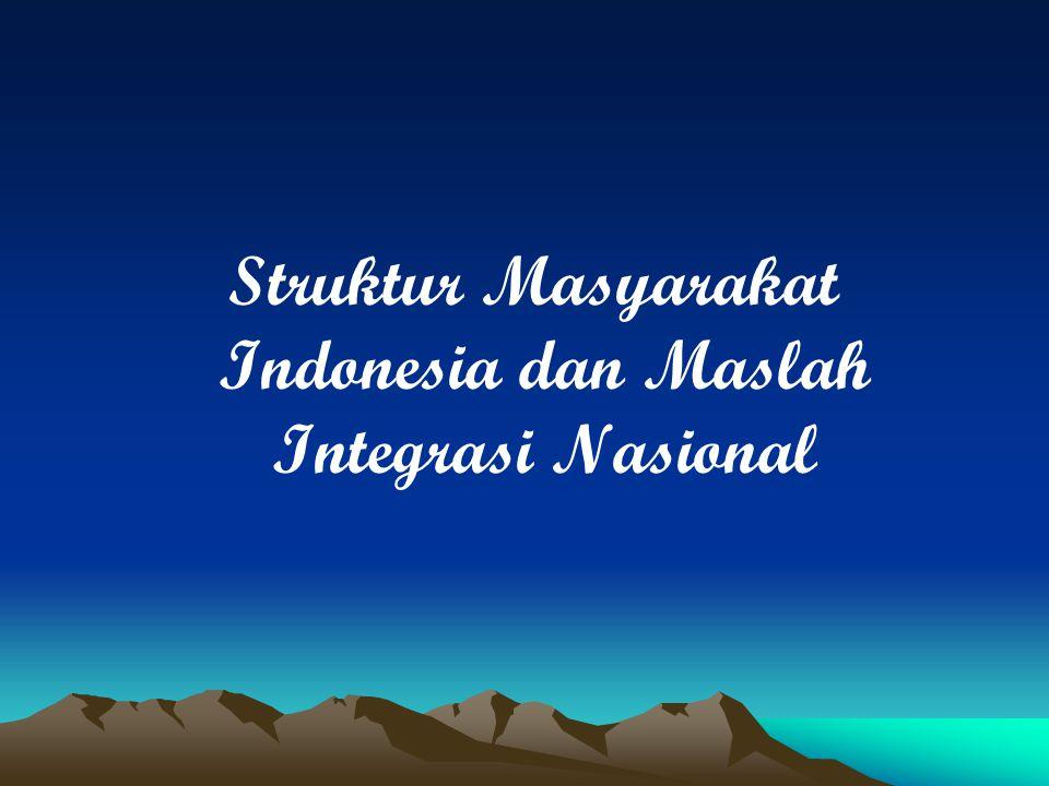 1.Bagaimana Struktur Masyarakat Indonessia .a.