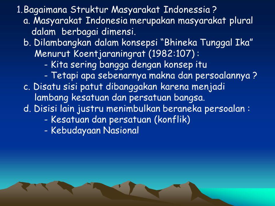 2.Bagaimana Masalah Kebudayaan Nasional .
