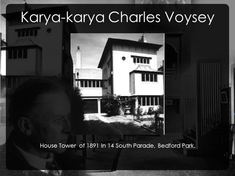 Karya-karya Charles Voysey House Tower of 1891 in 14 South Parade, Bedford Park.