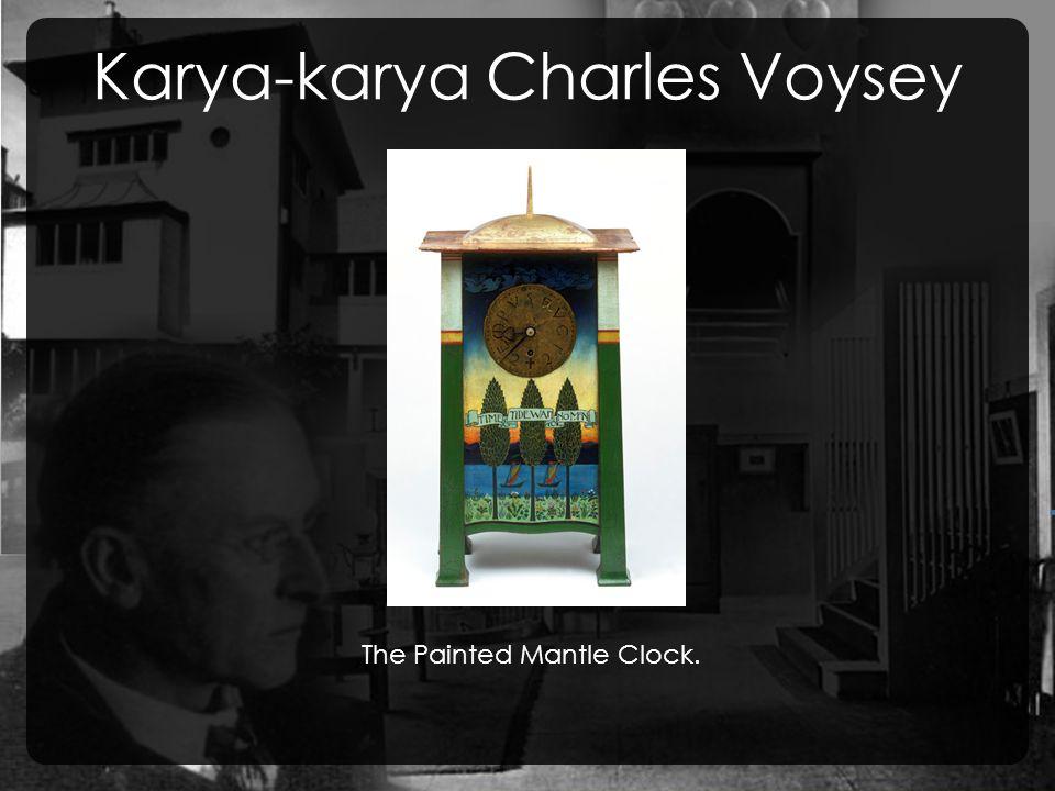 Karya-karya Charles Voysey, The Painted Mantle Clock.