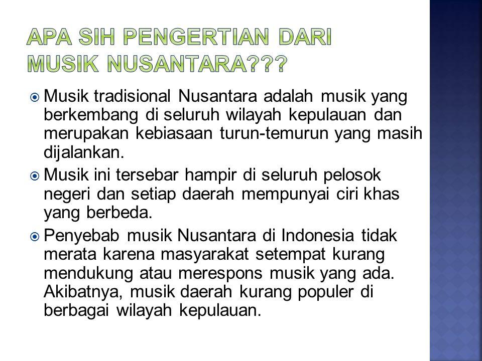  Musik daerah Kalimantan banyak sekali ragamnya, di antaranya daerah Banjarmasin dan Suku Dayak.