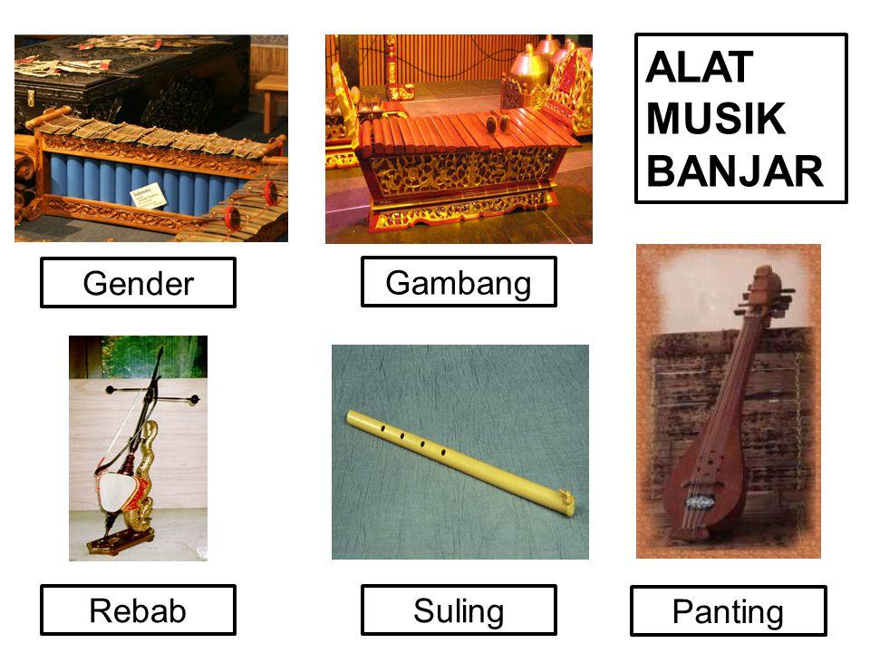  Suku Dayak mempunyai musik yang khas dengan instrumennya sebagai berikut.