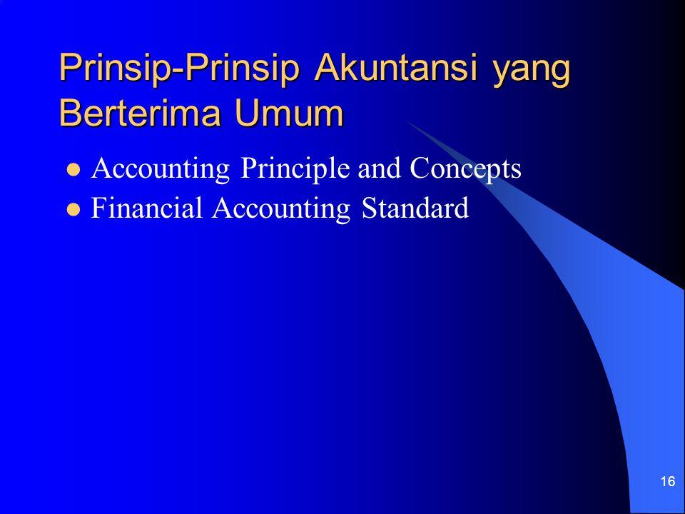 16 Prinsip-Prinsip Akuntansi yang Berterima Umum Accounting Principle and Concepts Financial Accounting Standard