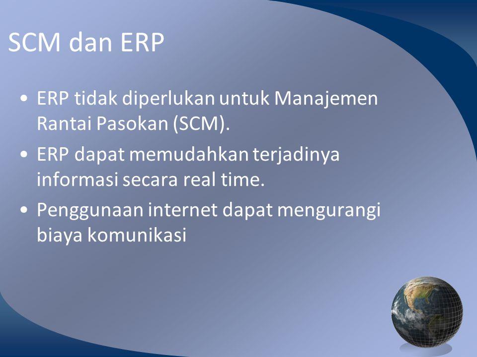 M0254 Enterprise Resources Planning ©2004 SCM dan ERP ERP tidak diperlukan untuk Manajemen Rantai Pasokan (SCM).