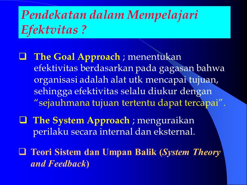 Pendekatan dalam Mempelajari Efektvitas .