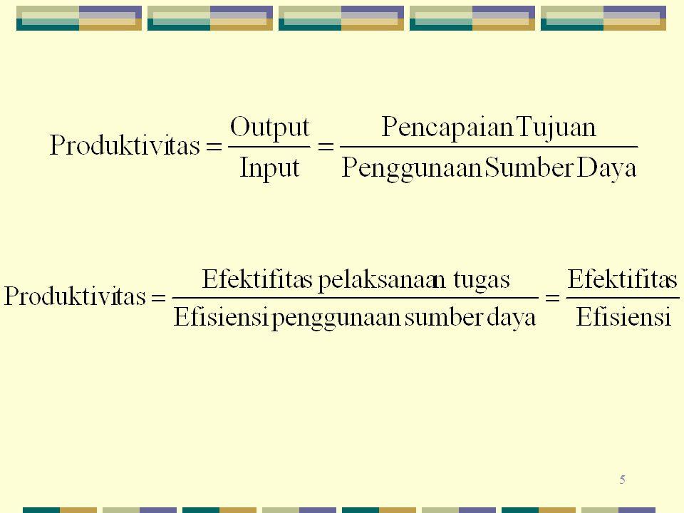 26 Prasyarat untuk menilai dan meningkatkan produktivitas, adalah : Bisa diukurnya output yang dicapai maupun input yang digunakan .