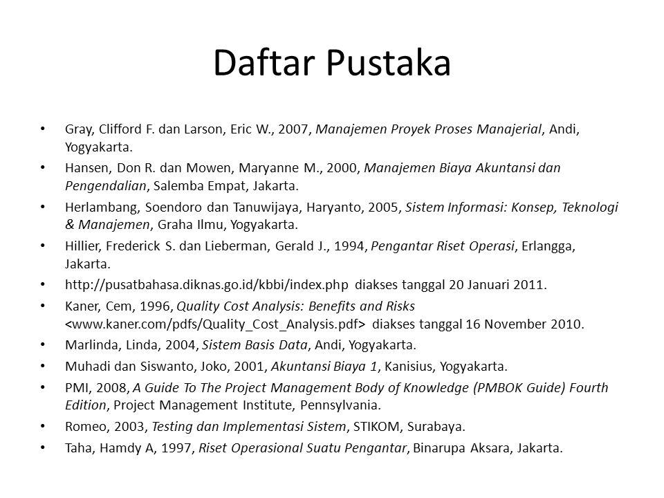 Daftar Pustaka Gray, Clifford F.