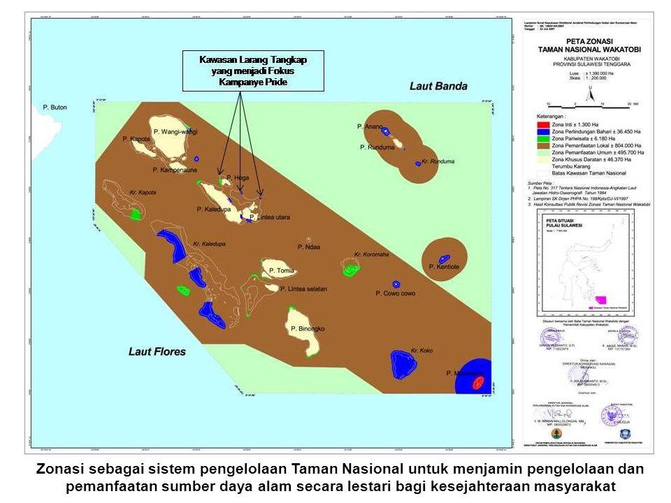 Zonasi sebagai sistem pengelolaan Taman Nasional untuk menjamin pengelolaan dan pemanfaatan sumber daya alam secara lestari bagi kesejahteraan masyarakat