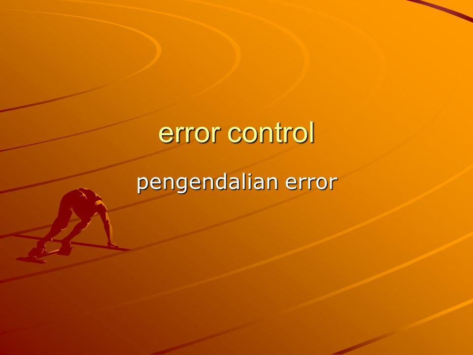 error control pengendalian error