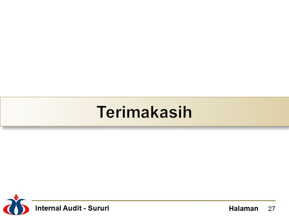 Internal Audit - Sururi Halaman 27
