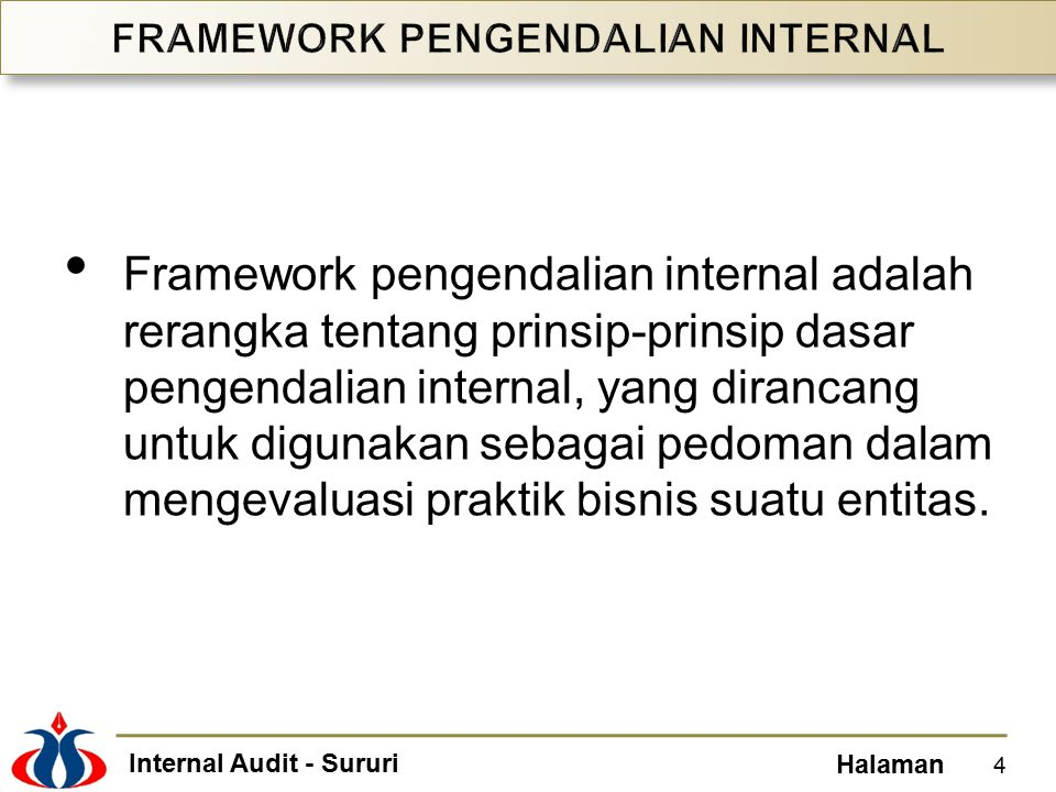 Internal Audit - Sururi Halaman Detective, preventive, directive, and corrective control activities.