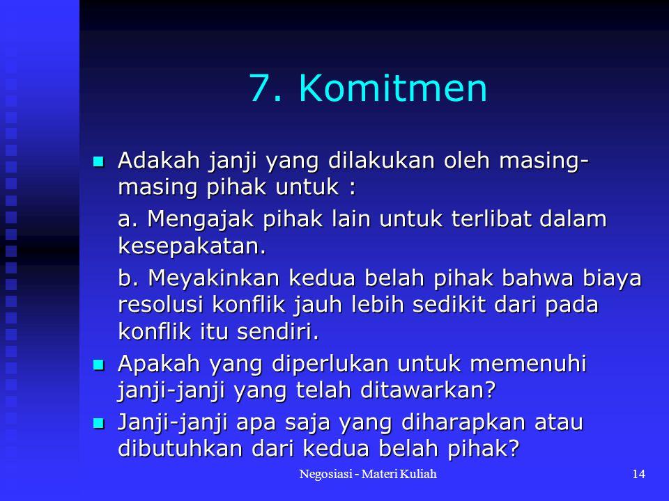 Negosiasi - Materi Kuliah14 7.
