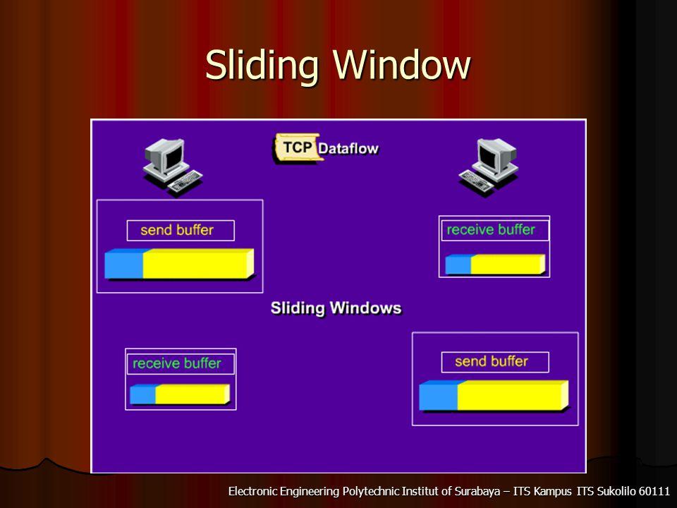 Electronic Engineering Polytechnic Institut of Surabaya – ITS Kampus ITS Sukolilo 60111 Sliding Window