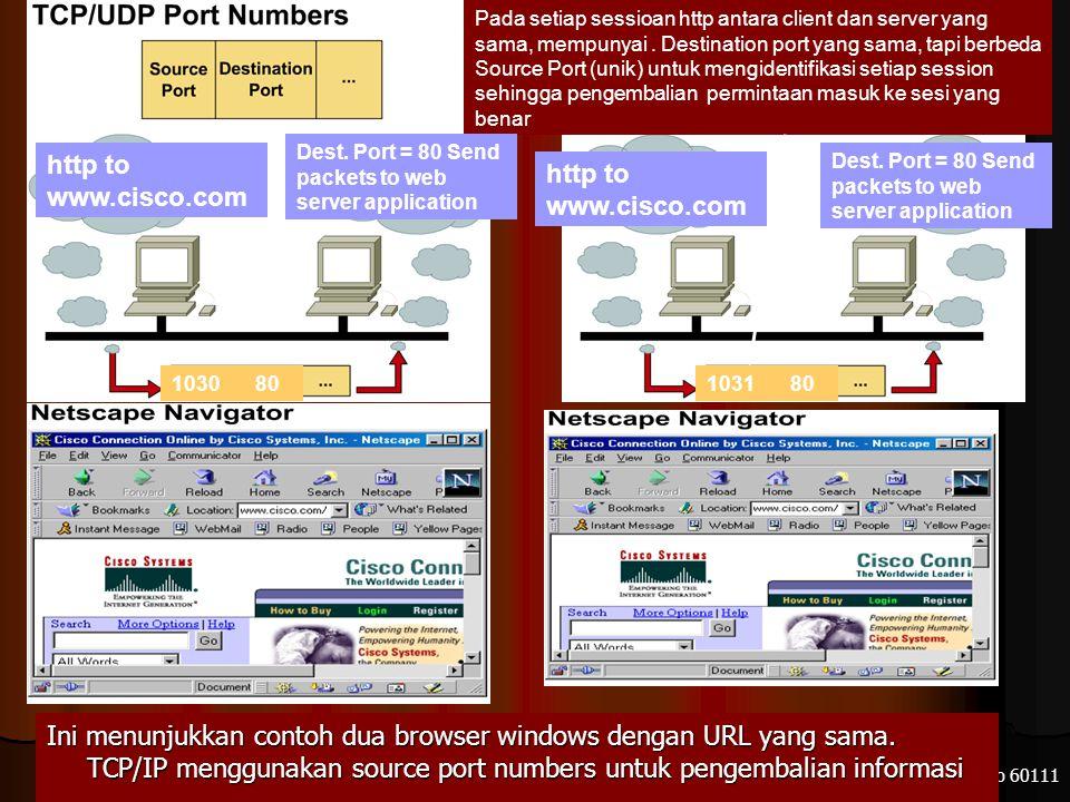 Electronic Engineering Polytechnic Institut of Surabaya – ITS Kampus ITS Sukolilo 60111 1031 Pada setiap sessioan http antara client dan server yang sama, mempunyai.