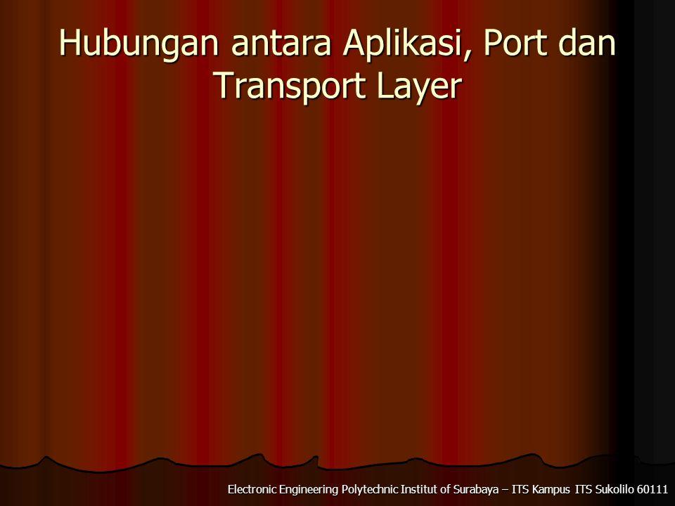 Electronic Engineering Polytechnic Institut of Surabaya – ITS Kampus ITS Sukolilo 60111 Hubungan antara Aplikasi, Port dan Transport Layer