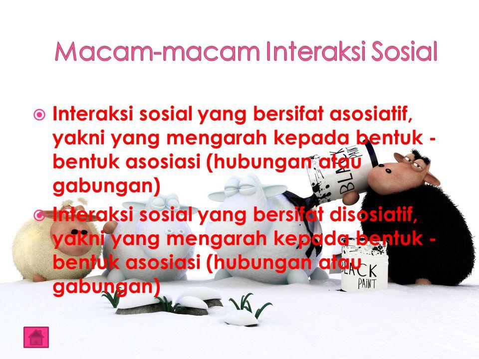 Menurut Tim Sosiologi (2002), ada empat ciri - ciri interaksi sosial, antara lain (p.