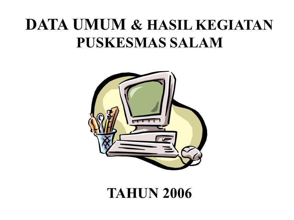 DATA UMUM & HASIL KEGIATAN PUSKESMAS SALAM TAHUN 2006