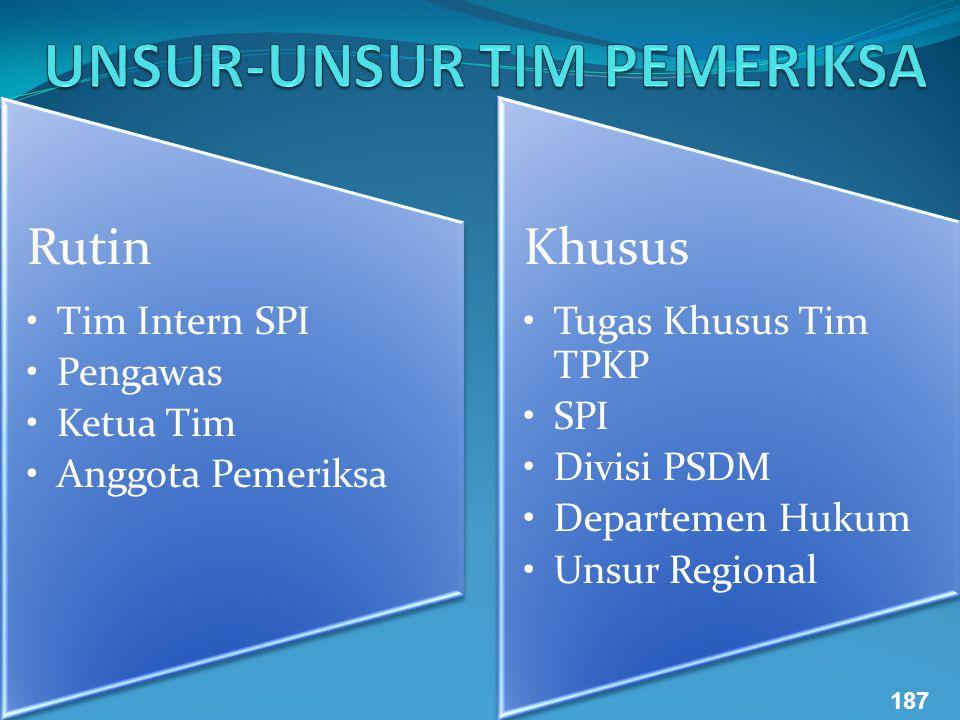 Rutin Tim Intern SPI Pengawas Ketua Tim Anggota Pemeriksa Khusus Tugas Khusus Tim TPKP SPI Divisi PSDM Departemen Hukum Unsur Regional 187