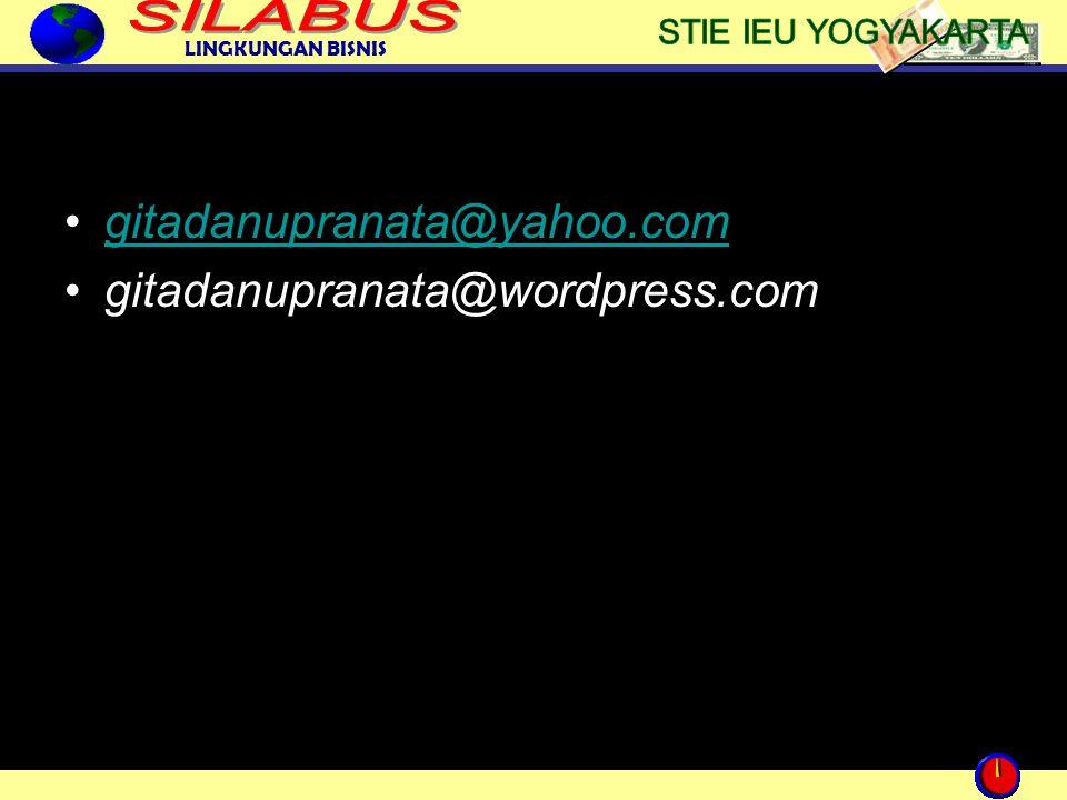LINGKUNGAN BISNIS gitadanupranata@yahoo.com gitadanupranata@wordpress.com