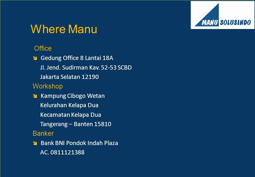 Office  Gedung Office 8 Lantai 18A Jl. Jend. Sudirman Kav. 52-53 SCBD Jakarta Selatan 12190 Workshop  Kampung Cibogo Wetan Kelurahan Kelapa Dua Keca
