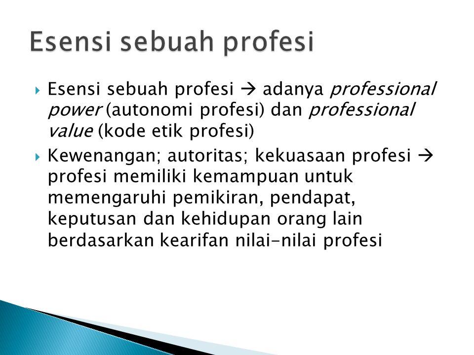  Ciri khusus profesi kedokteran : 1) Bersifat keilmuan 2) Keterampilan 3) Perilaku 4) Humanistik 5) Seni