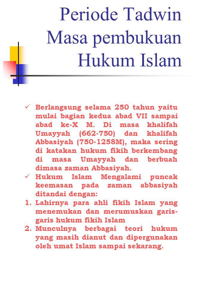 Klasifikasi Mujtahid (Perumus Teori Hukum) menurut kualitas 1.
