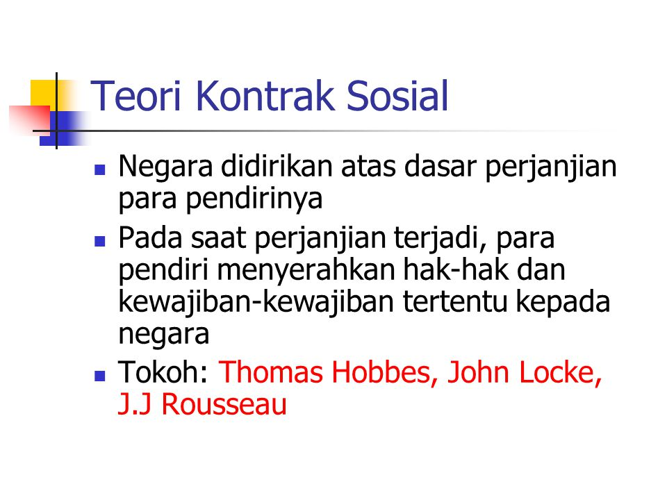 Thomas Hobbes 1 (1558-1679) Manusia adalah mesin yang dikendalikan nafsu, sehingga perilakunya sangat mekanistis.