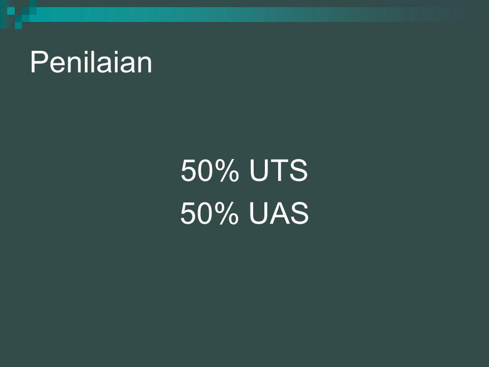 Penilaian 50% UTS 50% UAS
