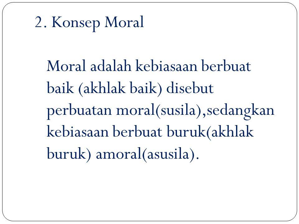 C. ETIKA DAN MORAL 1. KONSEP ETIKA Bertens (1994) menyatakan bahwa etika berasal dari bahasa yunani kuno ethos artinya adat kebiasaan, akhlak yang bai