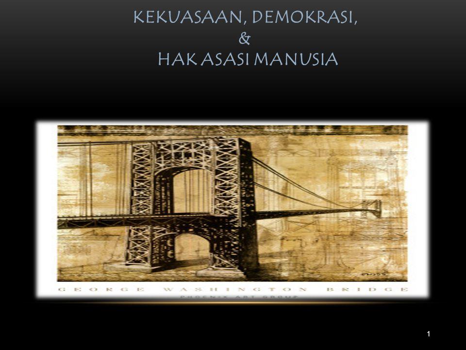 KEKUASAAN, DEMOKRASI, & HAK ASASI MANUSIA HTTP://HERWANP.STAFF.FISIP.UNS.AC.ID 1