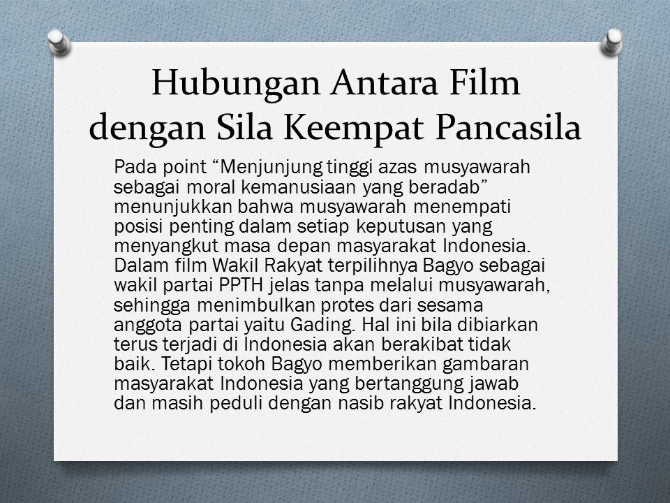 Pada point Menjunjung tinggi azas musyawarah sebagai moral kemanusiaan yang beradab menunjukkan bahwa musyawarah menempati posisi penting dalam setiap keputusan yang menyangkut masa depan masyarakat Indonesia.