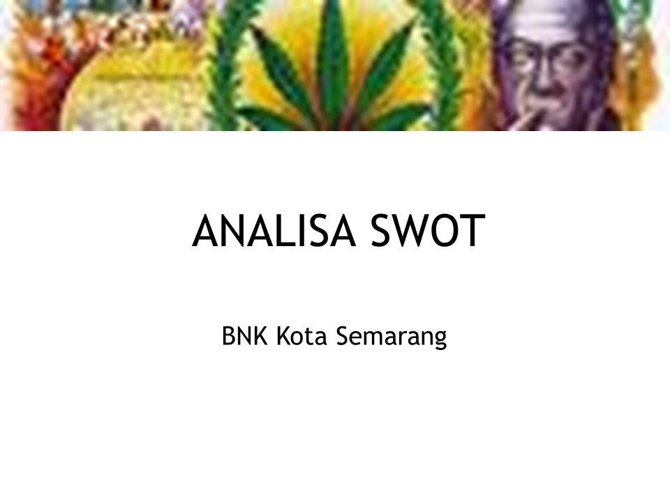 ANALISA SWOT BNK Kota Semarang
