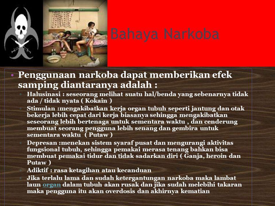 BNK Kota Semarang WEAKNESS (Kelemahan)  Belum ada kerjasama lintas sektor ( terutama dalam sektor pendidikan dan pemda setempat)dalam penanggulangan narkoba di kalangan pelajar.