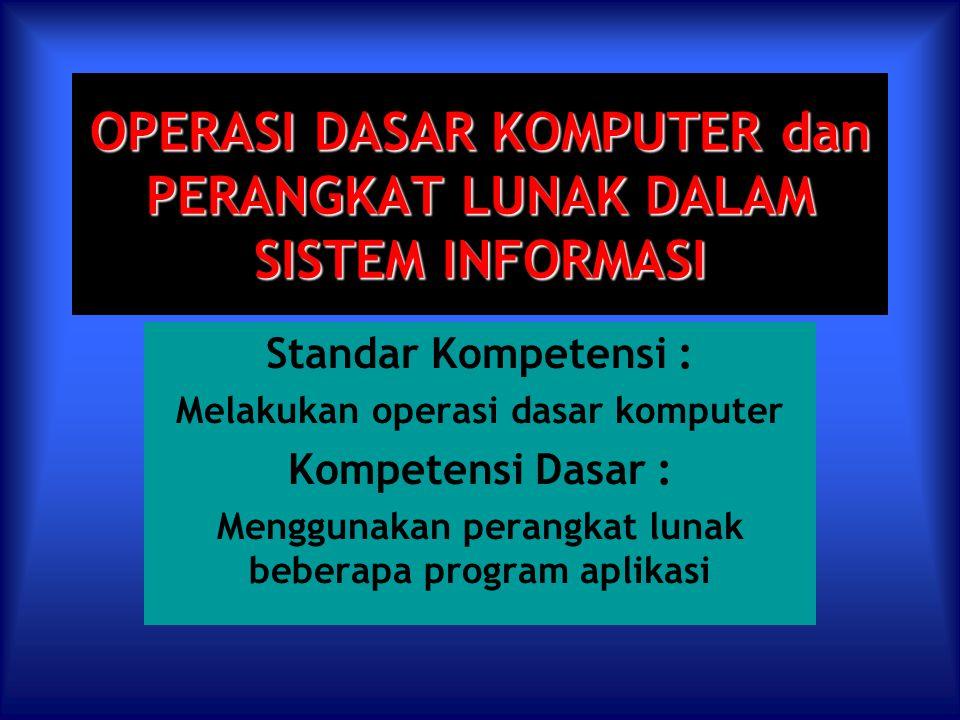 Perangkat Lunak dalam Sistem Informasi Tujuan Pembelajaran Melalui pengamatan, siswa dapat : 1.Mengidentifikasi macam-macam perangkat lunak.