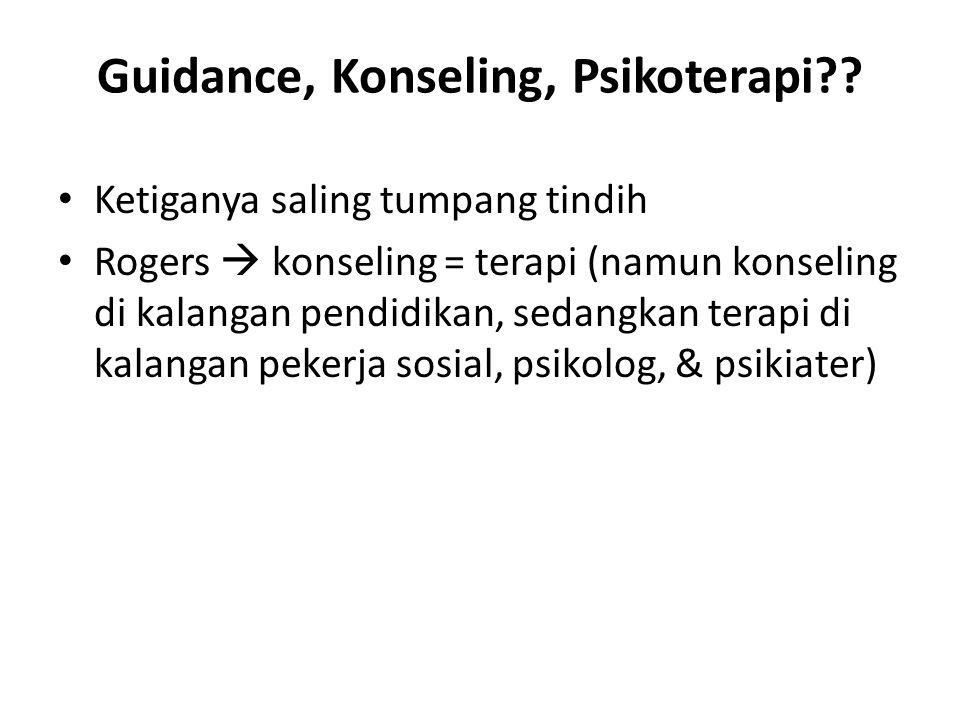 Guidance, Konseling, Psikoterapi?.