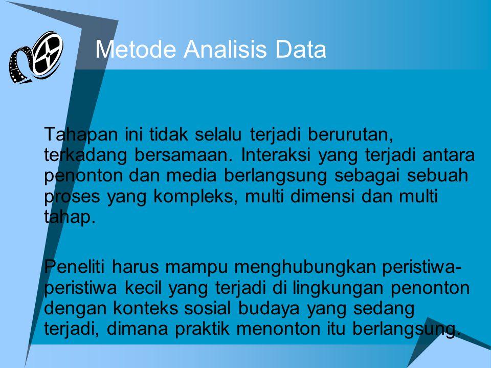 Metode Analisis Data Tahapan ini tidak selalu terjadi berurutan, terkadang bersamaan.