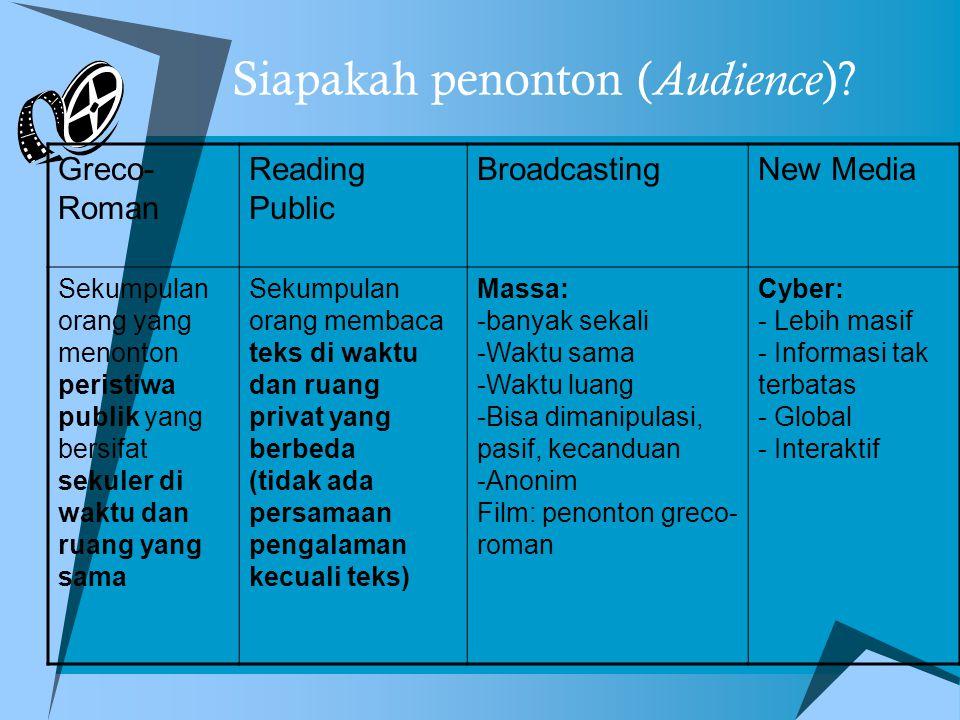 Siapakah penonton ( Audience ).