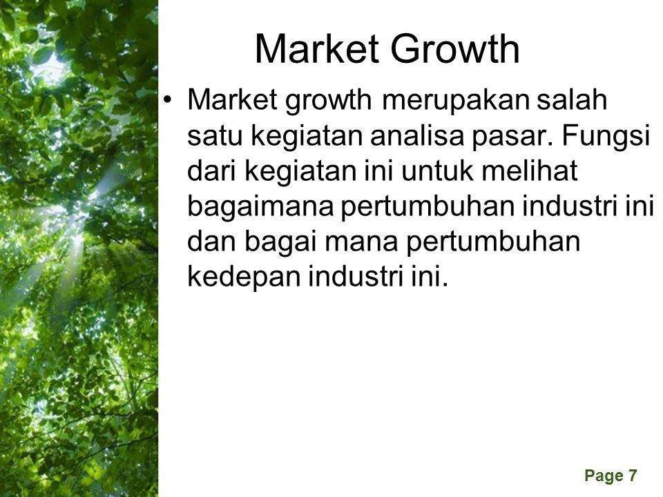 Free Powerpoint Templates Page 7 Market Growth Market growth merupakan salah satu kegiatan analisa pasar.