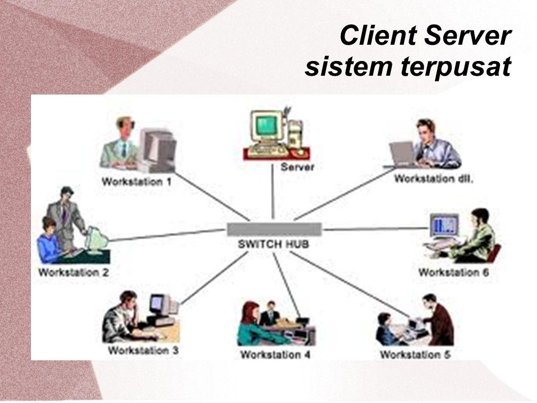 Client Server sistem terpusat