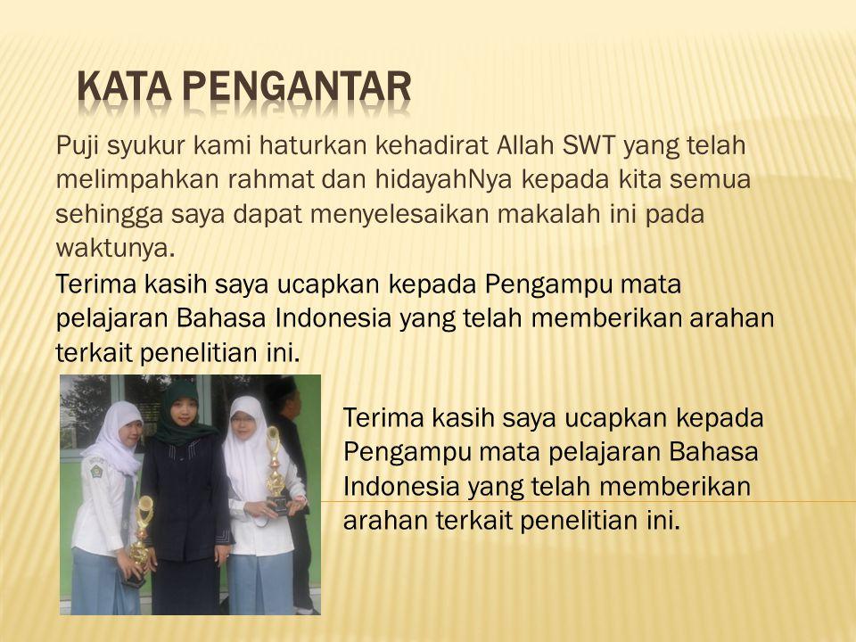 Judul : Pudarnya Penggunaan Bahasa Indonesia olehBahasa Gaul di Kalangan Remaja Tema : Pengaruh Bahasa Gaul terhadap Eksistensi Bahasa indonesia
