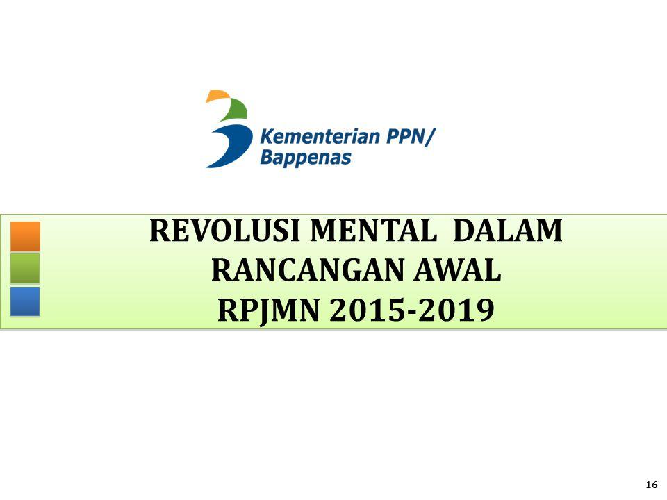 REVOLUSI MENTAL DALAM RANCANGAN AWAL RPJMN 2015-2019 16
