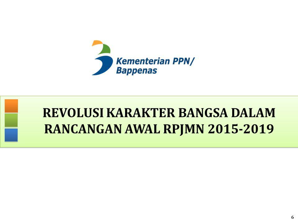 REVOLUSI KARAKTER BANGSA DALAM RANCANGAN AWAL RPJMN 2015-2019 6